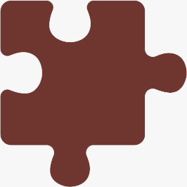 A red puzzle piece