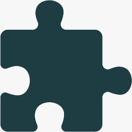 A blue puzzle piece