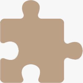 A beige puzzle piece