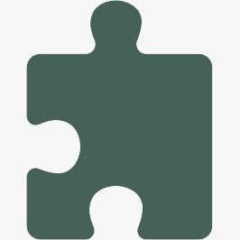 A green puzzle piece